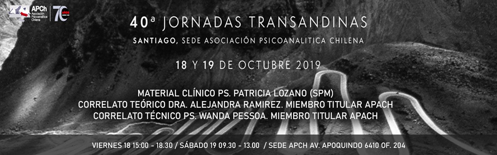 40º Jornadas Trasandinas APACH